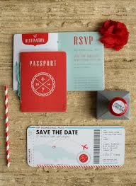 E Wedding Invitation Cards One Month Away Destination Wedding Invitations Boarding Pass