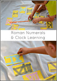 roman numerals u0026 clock learning math activity for kids roman