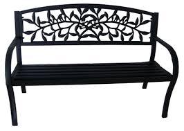 White Metal Outdoor Bench One Allium Way Georgiana Metal Garden Bench U0026 Reviews Wayfair