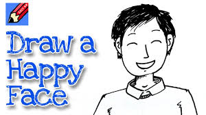 how to draw a happy for and beginners