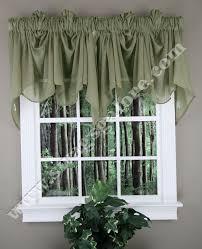 Sheer Valance Curtains Splendor Festoon Curtain Valance Olive Stylemaster Swag