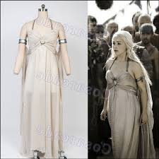 Games Thrones Halloween Costumes Aliexpress Buy Daenerys Targaryen Halloween Costume Song
