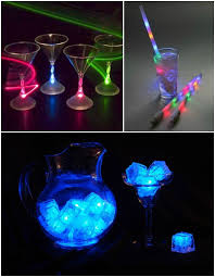 Glow In The Dark Party Decorations Ideas Glow In The Dark Party Ideas Led Light Up Glasses U0026 Ice Cubes