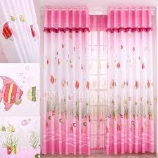 Pink Nursery Curtains Sweet Pink Nursery Curtains Printed With Fish Pattern Nautical