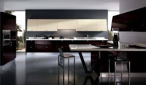 modern italian kitchen with open plan design and wine cellar on