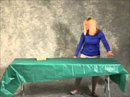 how to cover a table how to put on a plastic table cover youtube