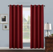 Red Blackout Blind Noise Reducing Curtains Amazon Co Uk