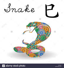 chinese zodiac sign snake fixed element fire symbol of new year