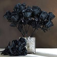 black roses for sale artificial flowers 24 silk black roses for