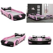 race car twin bed frame for kids girls children bedroom furniture