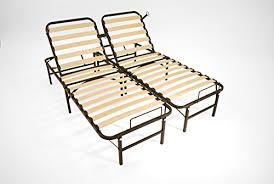 pragma bed pragma bed wooden slat adjustable bed frame head and foot queen