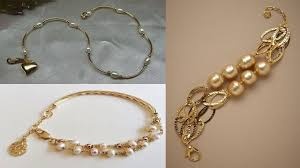 yellow gold pearl bracelet images Elegant 22k yellow gold fine pearl and diamond gold plated jpg