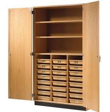 Tall Wood Storage Cabinets With Doors And Shelves Wood Storage