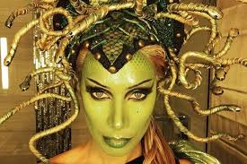 medusa hair costume leona lewis looks incredible in elaborate medusa costume complete