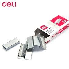 taille bureau deli 0012 1000 pcs boîte 24 6 taille agrafes pour agrafeuse argent