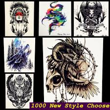brave as siberian lions indian warrior waterproof temporary tattoo