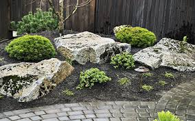Rocks In Garden Acreage Landscaping With Boulders Search Gardens
