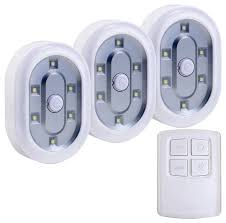 Battery Powered Under Cabinet Lighting Reviews by 1 5w Daylight Wireless Remote Control Leds Set Of 3