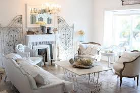 shabby chic interior design with rustic furniture set also