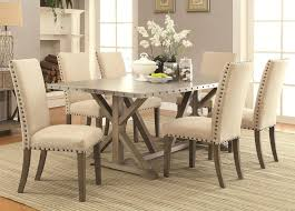 metal top round dining table amazing dining table sets 7 piece with metal and driftwood trestle