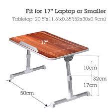 Adjustable Laptop Desk by Avantree Quality Adjustable Laptop Bed Table Portable Standing