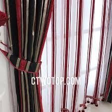 red and black curtains bedroom download page home design half price faux silk black and red striped curtains
