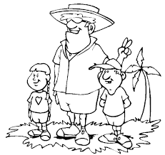 summer vacation coloring pages summer vacation family vacation to a tropical island with dad and