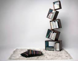furniture creative bookcase decorating with box standing and