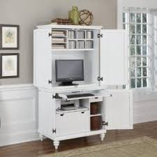 White Computer Desk With Hutch Computer Armoires Hutches Foter