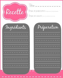 recette de cuisine a imprimer modele fiche recette cuisine word inspiration sur l intérieur et