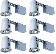 Recessed Track Lighting Systems Canarm Rn3nrc1wh6c Recessed Lights Kit Includes Six Single Bulb