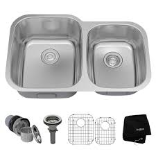 Undermount Kitchen Sinks Kitchen Sinks The Home Depot - Double kitchen sink
