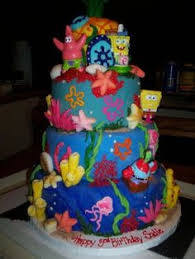 dive into this easy to make and impressive spongebob cake