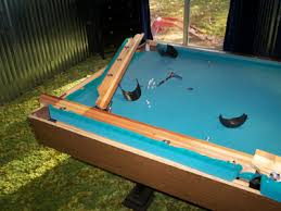 how to disassemble a pool table removing pool table cushions properly before refelting them