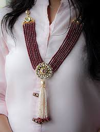 fashion jewelry red necklace images Beaded red fashion jewellery in india jpg