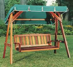 garden swing bench wood home outdoor decoration