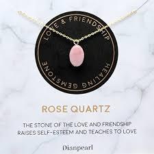 gold rose quartz necklace images Premium gemstone rose quartz necklace best friend jpg