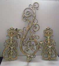 wall sconce candelabra 3 candle home interior vintage ebay 3 pcs vintage home interiors wall sconce candelabra 2 candle