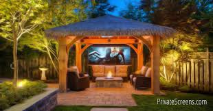 Gazebo Screen House by How To Turn Your Gazebo Into An Outdoor Theater