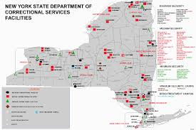 Map Of State Of New York by New York Prisons Map New York Map