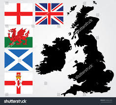 Map Of Wales England by Map United Kingdom England Flagwales Flagscotland Stock Vector