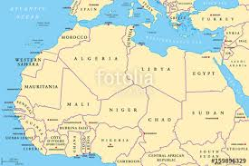africa map labeled countries africa countries political map with capitals and borders