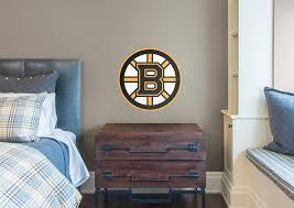 boston bruins bedroom boston bruins logo fathead jr wall decal shop fathead for