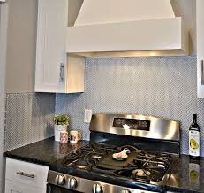 Kitchen Backsplash White Blue Herringbone Tile Kitchen Backsplash Lou Lou Girls