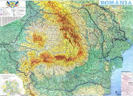 Physical Map Of Europe by Romania Map Physical Map Carpathian Mountains Black Sea U2013 Romania
