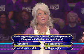 Paula Deen Pie Meme - watch paula deen on who wants to be a millionaire paula deen