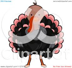 cartoon images of thanksgiving turkey cartoon of a cute thanksgiving turkey bird royalty free vector