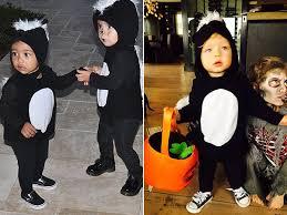 Baby Skunk Costume Halloween Cutest Halloween Faceoff Kim Kourtney U0026 Fergie U0027s Kids Sport