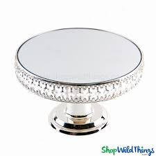 pedestal cake stand beaded pedestal cake stand mirror top shopwildthings