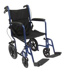 Recliner With Wheels Lt 1000 Transport Wheelchair With Loop Brakes Karman Healthcare
